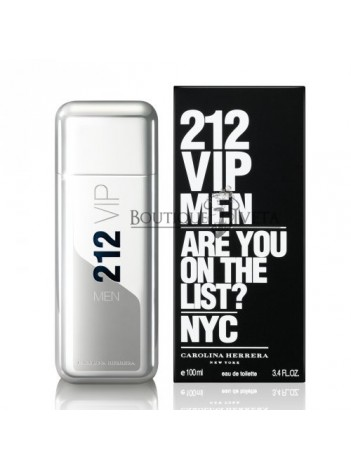 "Carolina Herrera 212 Men ""Are you on the list?"" EDT NYC 100ml"