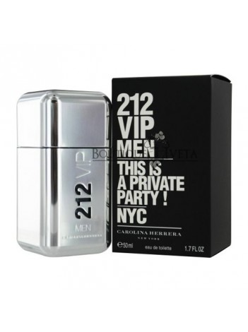 """Carolina Herrera 212 Men """"This is a private party!"""" EDT NYC 50ml"""